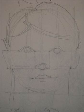 Hand drawn face