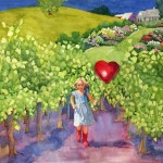 Heart and Vines SOLD Giclee' available