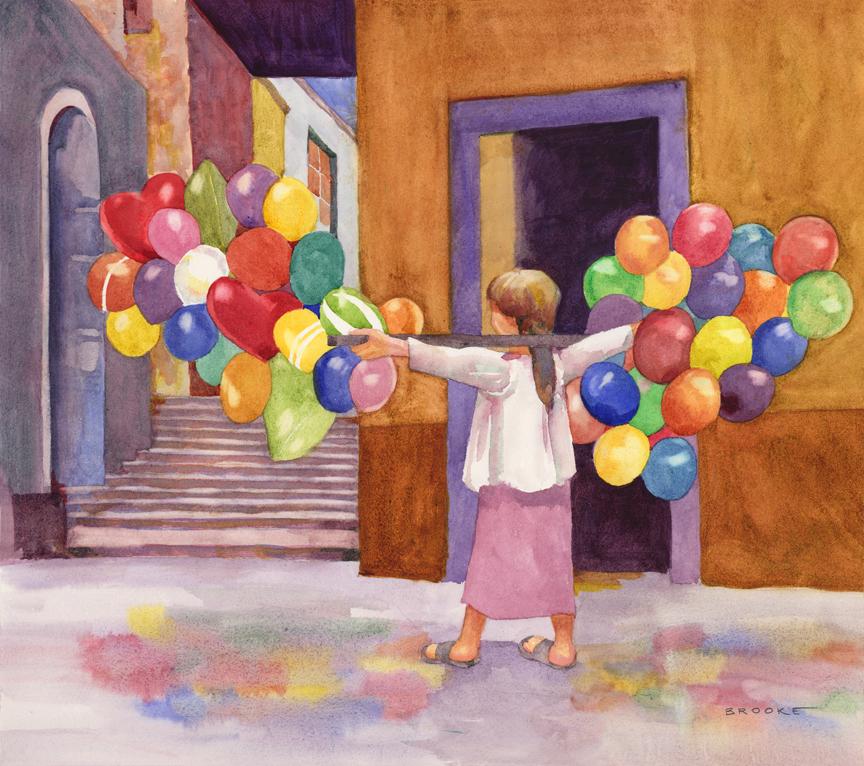 Figures Watercolor Paintings Brooke Studio Gallery