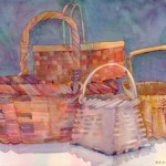Baskets Watercolor Painting