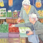 Italian Market Watercolor Painting