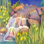 Meadowlark Waterfall Painting