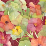 Nastertiums Watercolor Painting