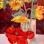 Summer Harvest Watercolor Painting