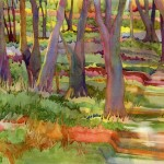 Woodlands Watercolor Painting
