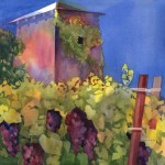 Napa Winery, watercolor on 100% rag paper