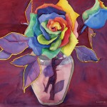 Unexpected Roses Watercolor Painting